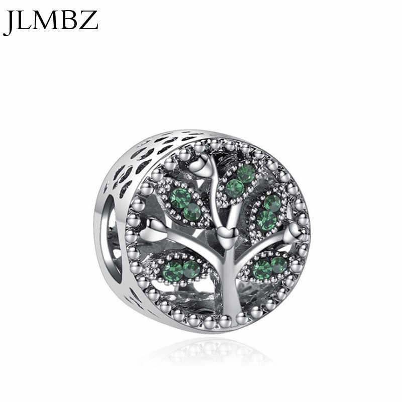 JLMBZ serce/liście/drzewo/rodzina/Leopard/mama kryształ DIY Charms Fit pandora bransoletki i naszyjniki wisiorek koraliki tworzenia biżuterii