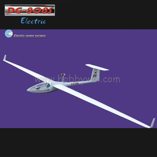 DG-808S Electric Glider 4000mm ARF with Motor Spinner Propeller Esc Servo RC Model Sailplane fiberglass fuselage & wood wings image