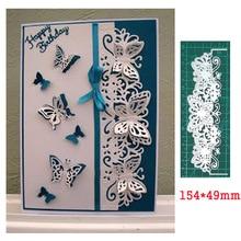 metal cutting die lace butterfly border craft scrapbook card decorative die template for diy album paper card die stencil