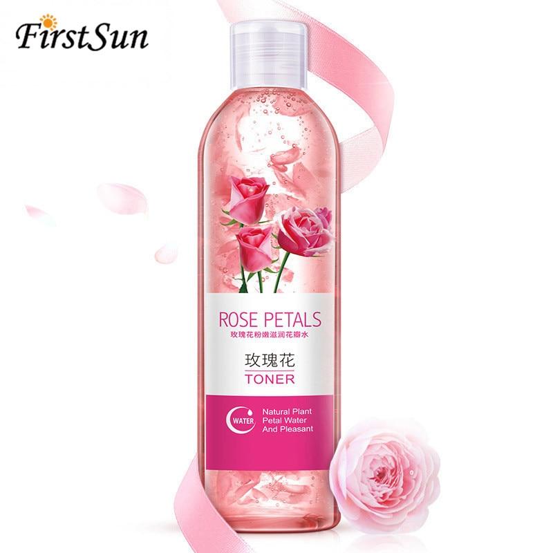 Firstsun Rose Petals Essence Water Face Toners 250ml Shrink Pores Anti-Aging Whitening Moisturizing Oil Control Skin Care Toner