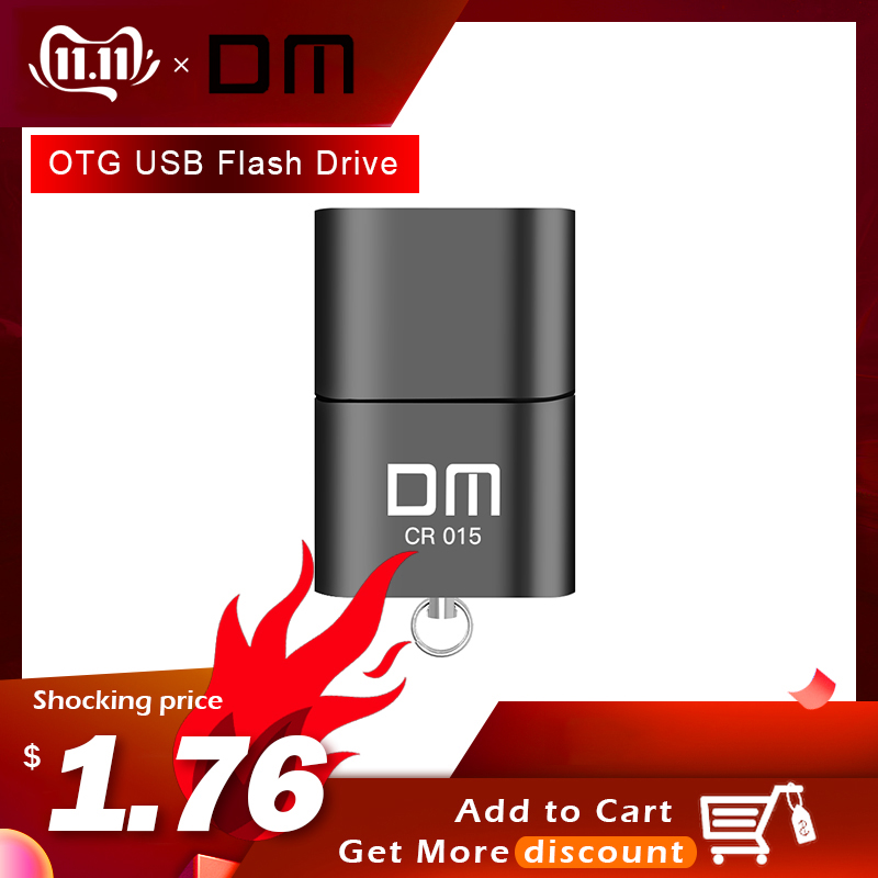 DM CR015 Micro SD Card Reader With Innovative TF Card Slot Change The Card Reader Into A Usb Flash Drive For Computer Or For Car