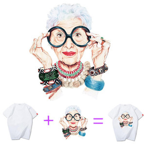Image 2 - Fashion Grandma PVC Patch deal with it Clothes Heat Transfer Printing T shirt women iron on patches for clothing fabric Stickers