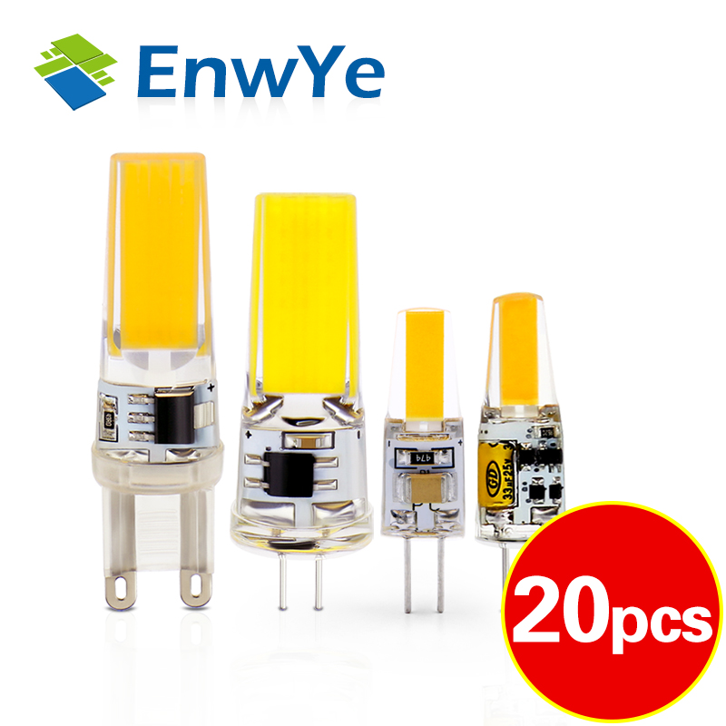 EnwYe <font><b>LED</b></font> G4 G9 Lamp Bulb AC / DC 12V 220V <font><b>3W</b></font> 6W COB SMD <font><b>LED</b></font> Lighting Lights replace Halogen <font><b>Spotlight</b></font> Chandelier image