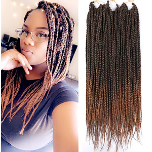 Full Star Long Micro Box Braids Bug Ombre Black Brown Blonde Synthetic Hair Crochet Braids 22 strands/pack