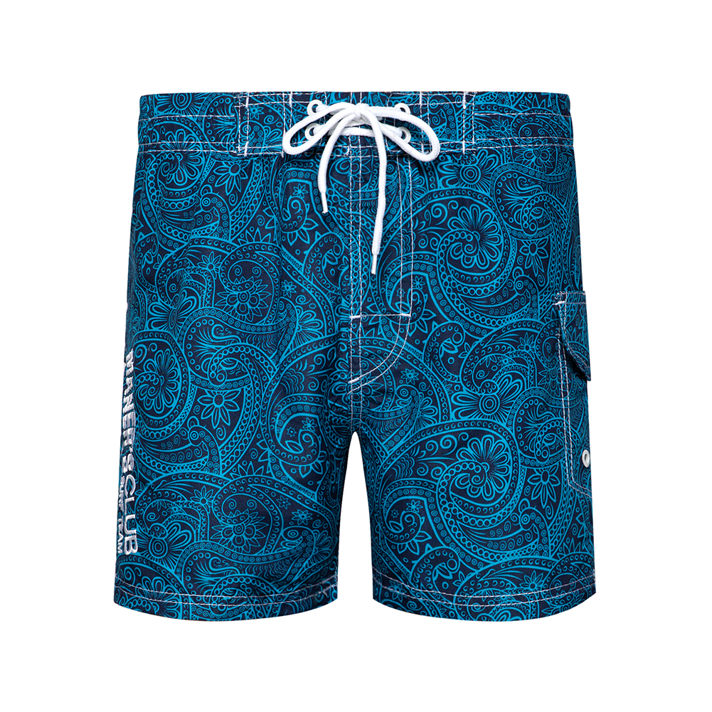 2020 Summer New Mens Beach Pants Contrast Color Shorts Simple Embroidery Drawstring Lace Casual Beach Male Pants US/EURO Size