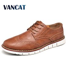 New Brand Casual Shoes High Quality Split Leather Bullock Men's