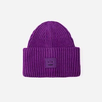 2020 New Acne unisex women's autumn and winter hats Angora100% double layer warm hat Skulies wool hat Warm knitted hat 8