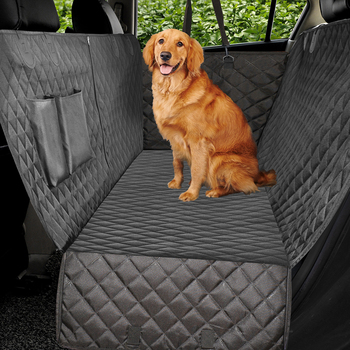 Luxury Quilted Dog Seat Cover With Buckle Straps For Dogs And Cats
