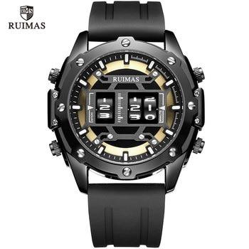 MEGIR & RUIMAS Military Sport Watches Men Roller Quartz Watch Luxury Waterproof Silicone Strap Wristwatch Man Relogio Mascilino - discount item  50% OFF Men's Watches
