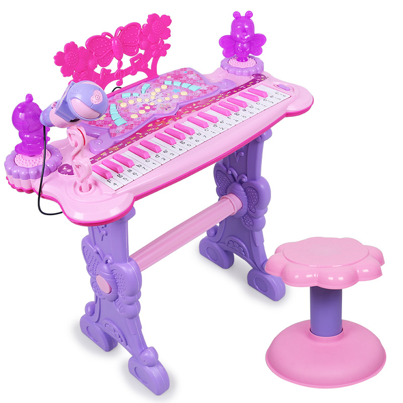Children Electronic Organ Toy GIRL'S 1-3-6-Year-Old Beginner Educational Baby Music Piano Microphone Can Play Charging