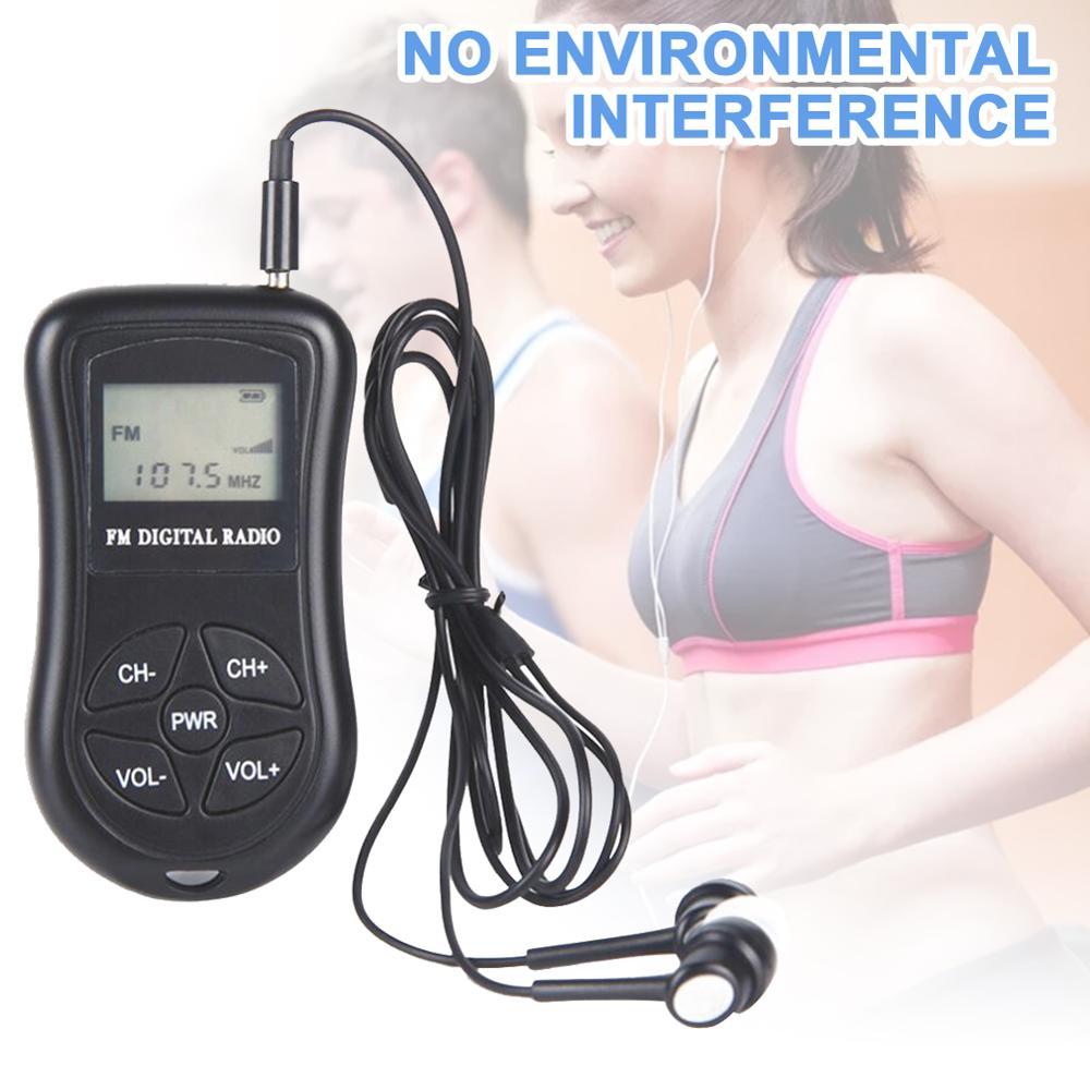 Digital Radio Speakers Portable Mini FM Radio Speaker Music Player Telescopic Antenna Handsfree Pockets Receiver