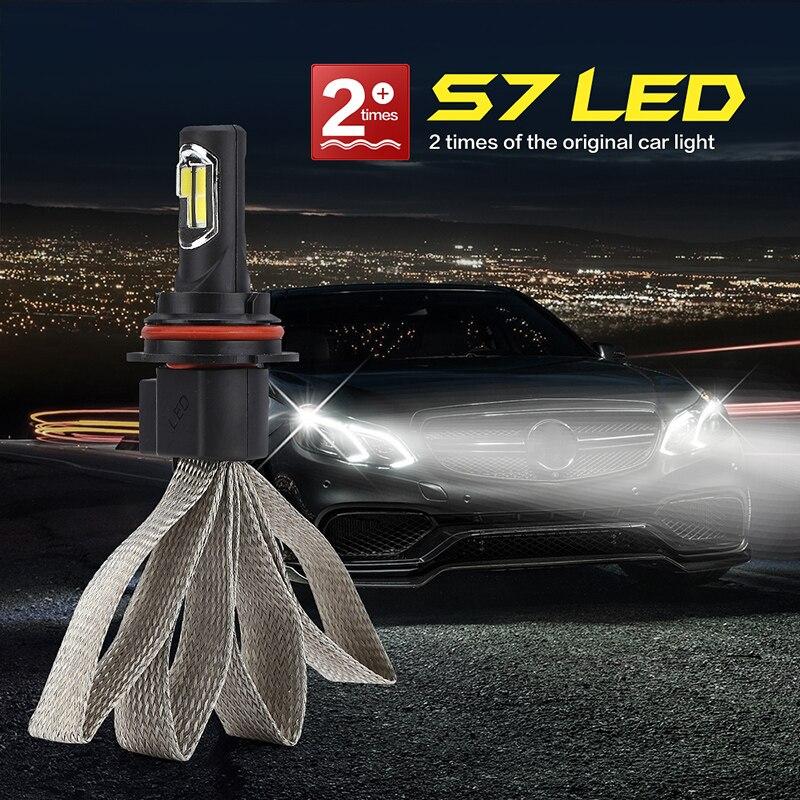 6000K Scheinwerfer Ersatz 1 Paar S7 9007 72W 8000LM Lampe Energiesparend Nützlich Praktisch Langlebig