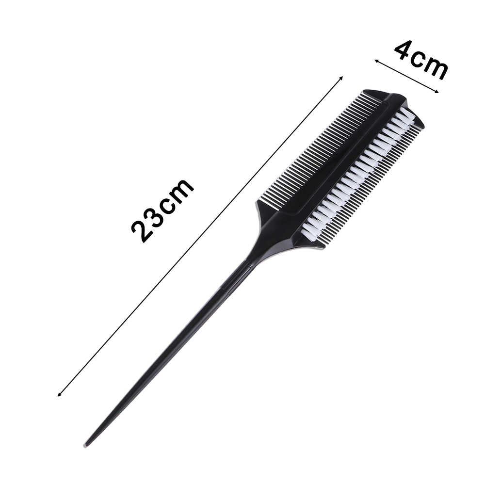 1pc Professional Hairdressing Double Side Dye Comb with Nylon Hair Drying Brush Tinting Combs Hair Color Brush Hair Styling Tool