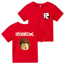 Summer Children's T-shirt Roblox Girls' Sweatshirt Boys' Football Shirt Cartoon Printing Fashion Cotton 4T-14T