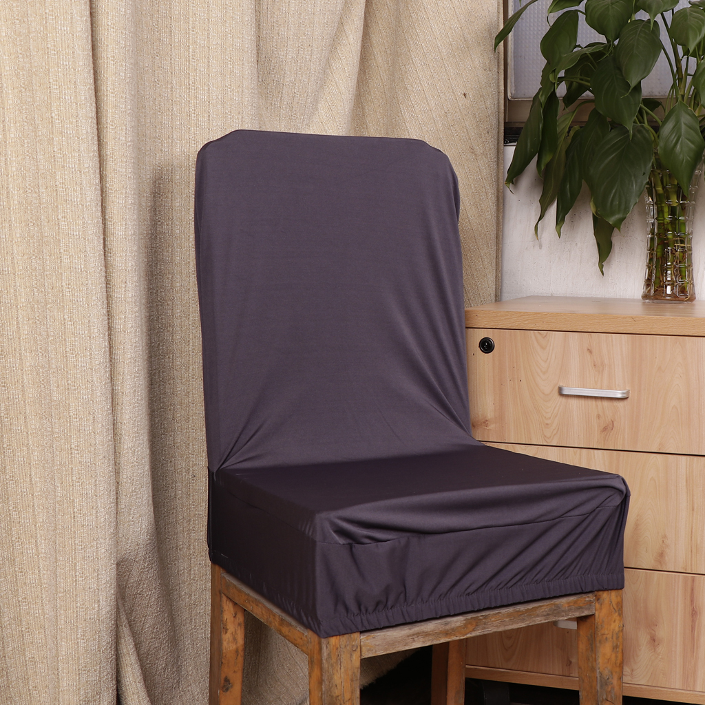 Spandex Stretch Low Short Back Chair Cover Hotel Bar Stool Cover 13.7-17.7