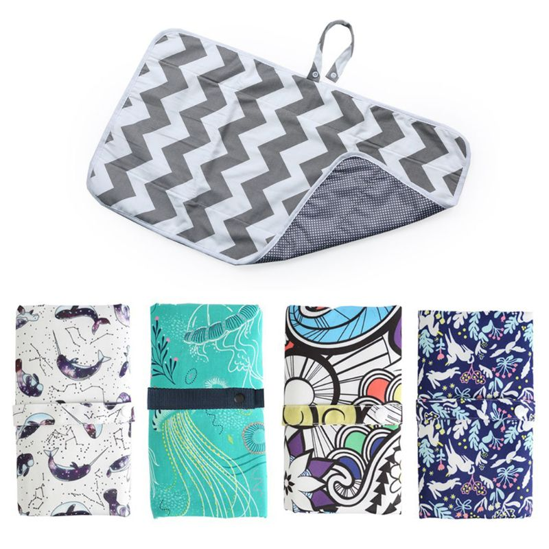 Portable Newborn Waterproof Baby Changing Mat Infant Foldable Travel Changing Diaper Nappy