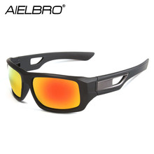 AIELBRO Men Cycling Glasses Outdoor Sport Mountain Bike Bicycle Motorcycle Sunglasses Fishing Oculos De Ciclismo