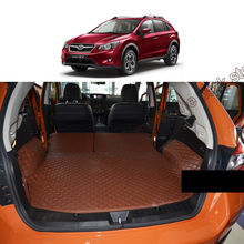 Lsrtw2017 Leather Car Trunk Mat Cargo Liner for Subaru Xv 2011 2012 2013 2014 2015 2016 4th Generation Rug Carpet Accessories