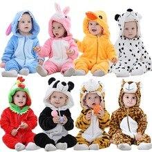Romper Newborn Onesie Clothing Jumpsuit Pajamas Hooded Panda-Costume Animal Flannel Girl