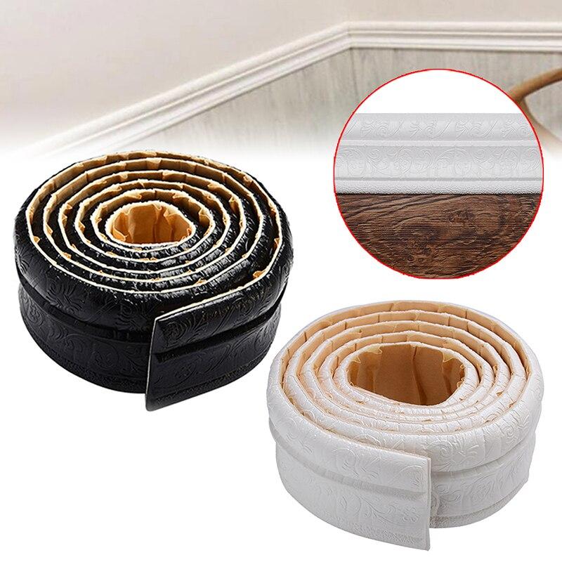 3 Colors Self Adhesive Waist Line Sticker 2.3M 3D Printed Wallpaper Bathroom Toilet Wall Waterproof Edge Wallpaper Borders