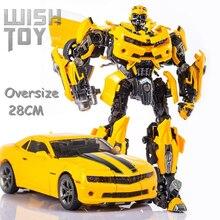 Wj変換傑作ロボットオーバーサイズ28センチメートルMPM03 MPM 03黄色蜂映画合金ビッグ戦争ハンマーアクションフィギュアおもちゃ