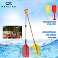 54-106cm Telescopic SUP Paddle Oar Rowing Portable Non Slip Outdoor Boat Paddle Aluminum Alloy Water Sports Fishing Rafting Safe