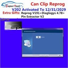 Recentemente pode clipe v203 para renault obd2 software de diagnóstico pode clipe v200 + presente reprog v191 + pino extrator v2 atualização de dados para 2020