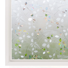Funlife 3D leaves Decorative Stained Glass Window Film Removable Self Adhesive Sticker Static Cling Vinyl