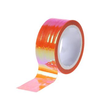 2021 New Rhythmic Gymnastics Decoration Holographic RG Prismatic Glitter Tape Hoops Stick image