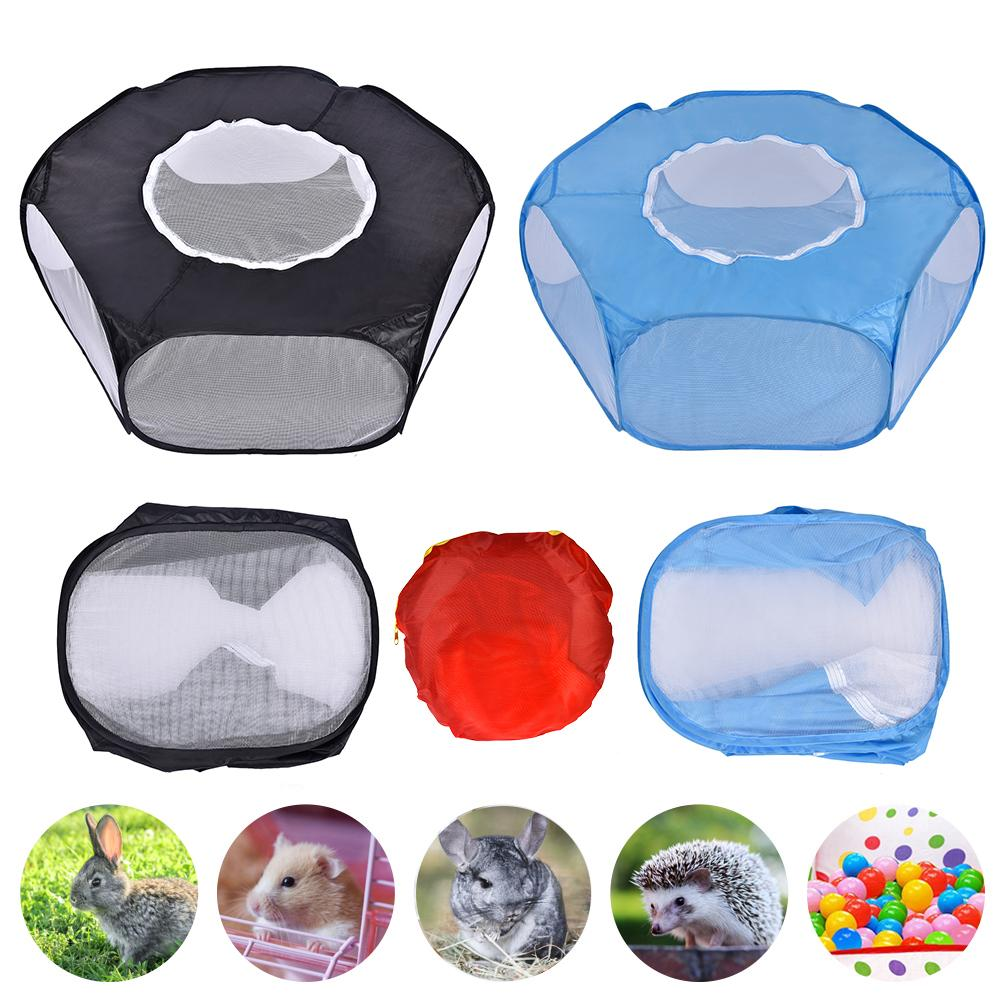Pet Playpen Portable Pop Open Indoor / Outdoor Small Animal Cage Game Playground Fence For Hamster Chinchillas And Guinea Pigs