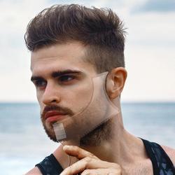 men hair comb template hair edge control transparent beards combs for men beauty tool for hair beard ornament templates