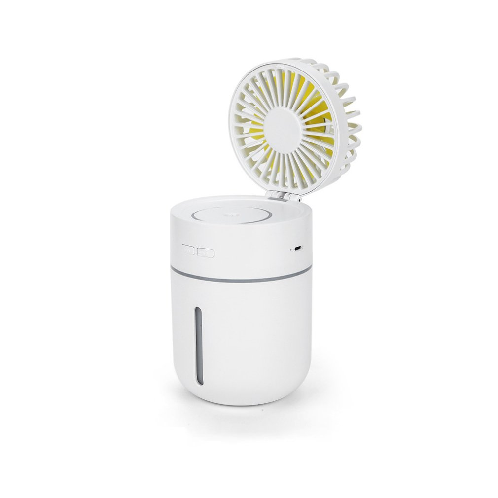 Creative T9usb Rechargeable Atmosphere Light Mini Humidification Desktop Fan Student Summer Portable Small Fan|  - title=