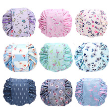цены Large-capacity Drawstring Travel Cosmetic Bag Makeup Bags Storage Bag Magic Pouch Toiletry Beauty Kit Box Wash Bag Organizer
