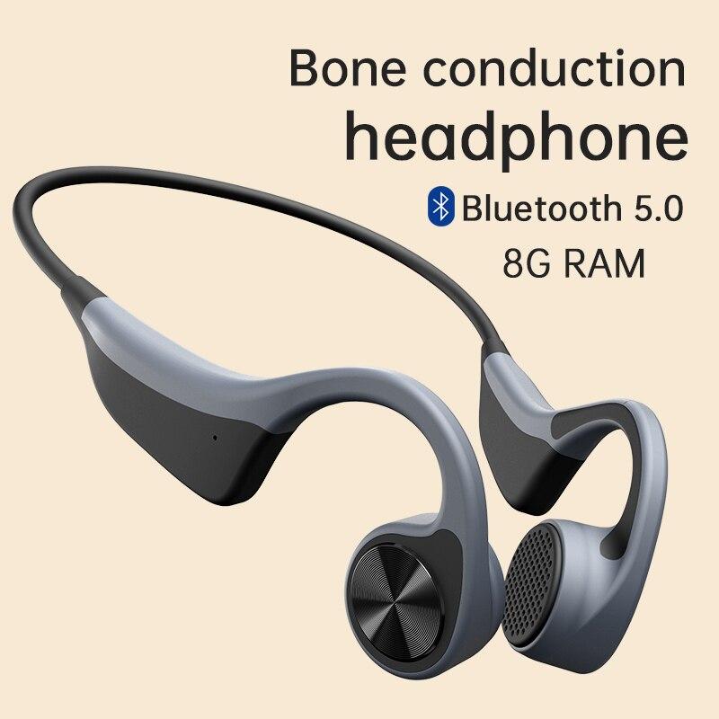 2021 nouveau Bluetooth casque sans fil Conduction osseuse casque AI contrôle MP3 avec 8G de mémoire pour Android Sony Xiaomi Huawei