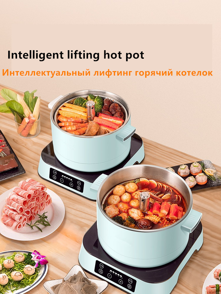 Electric 2L Large Stainless Steel Fondue Grill /& Steam Boat Hot Pot Post from AU