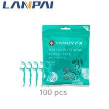 100 одноразовых зубных нитей