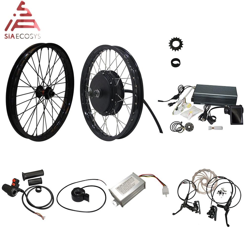 QS Motor 205 50H V3 Electric High Power Bicycle Kit / E Bike Kit / Spoke 3000W Powerful Hub Motor Kit With TFT H6 Speedometer