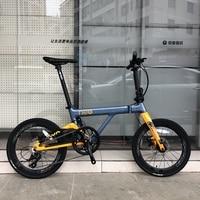 JAVA NEO Carbon Folding Bike 20 406 Wheel 9 Speed Disc Brake Foldable Uniex High Quality Adult Urban City Bicycle Mini Velo