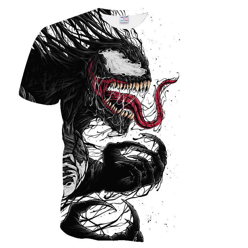2019 T Shirt Men Newest Venom Marvel T-shirt 3D Printed T-shirts Men Women Casual Shirt Fitness T-shirt Tees Tops European Size