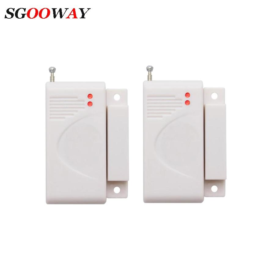 Sgooway 433MHZ Wireless Door Sensor Door Magnetic Contact Detector For Gsm Sms WIFI Alarm