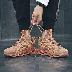 Image 2 - 46 męskie buty do biegania 2020 wiosna nowe męskie tenisówki miękkie siatkowe obuwie oddychające modne czarne buty sportowe obuwie zimowe męskie