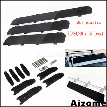 32 34 40Universal Car Roof Rack Air Deflector Kit For SUV BMW Jeep Wrangler Auto Cross Bars Reduce Wind Noise Fairing Spoiler image