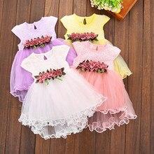 Robe à fleurs multi-styles pour bébés filles, vêtements d'été princesse en Tulle, motif Floral, de 0 à 3 ans