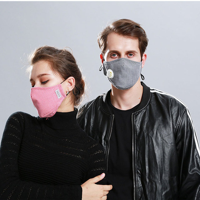 Korean Fabric mouth face mask PM2.5 Anti Haze/Anti dust mouth mask Respirator mascaras With Carbon Filter Respirator Black Mask 4