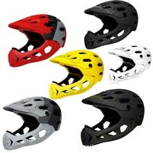 Adult Full Face Bike Helmet MTB Mountain Road Bicycle Full Covered Helmet Motorcycle DH Downhill Cycling Helmet