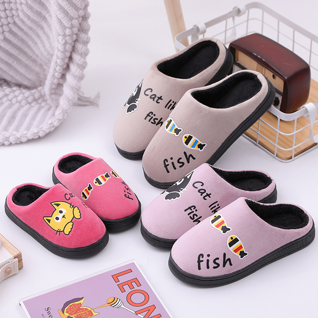 Winter Toddler Boys Girls Little Kid Shoes Warm Cute Animal Kid Home Indoor Slippers Sapato Infantil Kids Shoes 2019 New Arrival