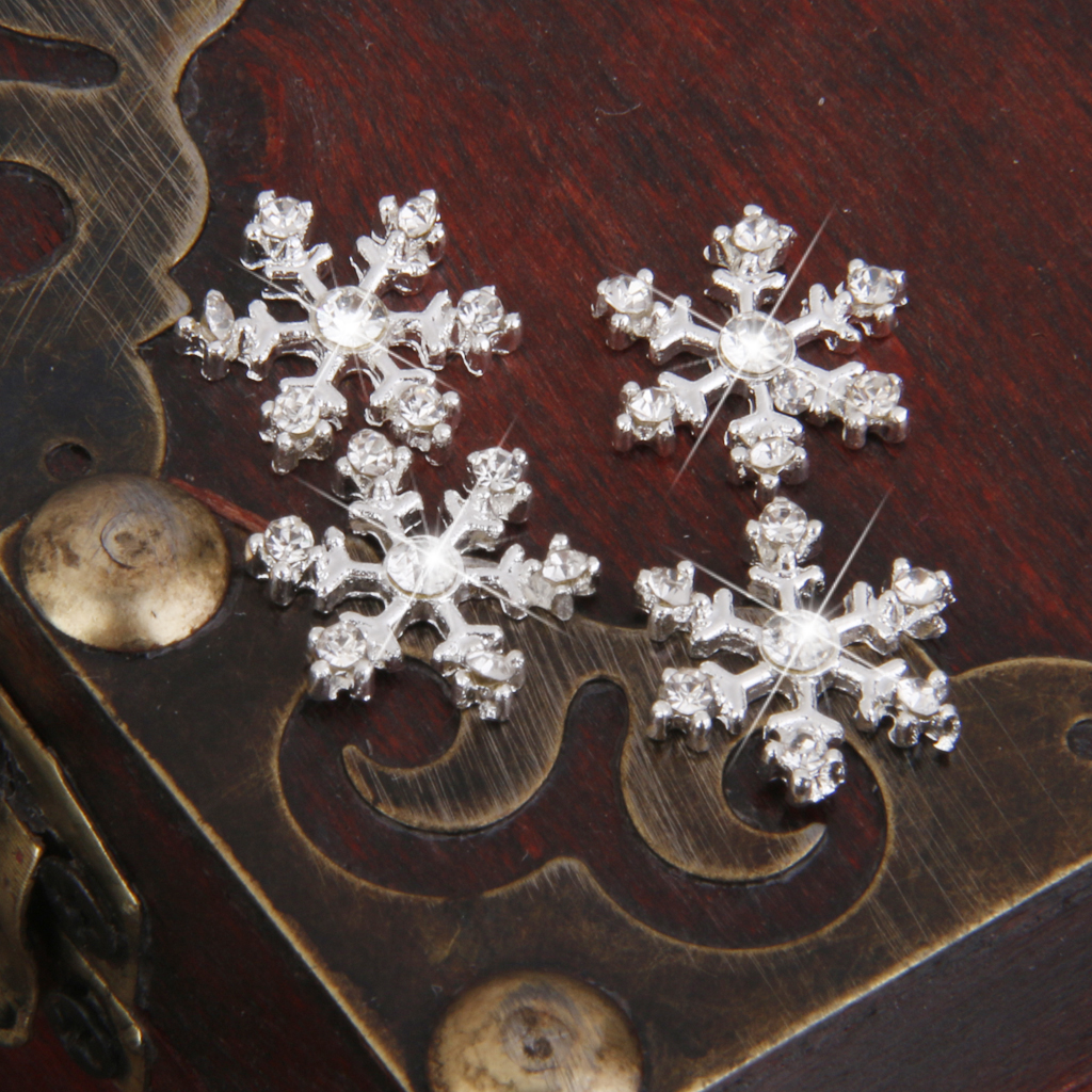LET IT SNOW RESIN EMBELLISHMENT TOPPERS FOR CARDS