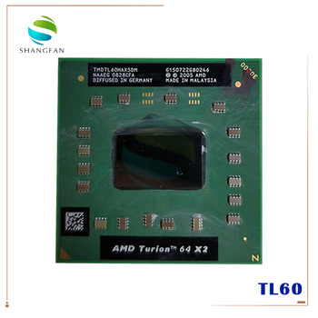 AMD cpu laptop Turion TL-60 TMDTL60HAX5DM CPU 1M Cache/2.0GHz/Socket S1/Dual-Core Laptop processor tl60 TL 60 1