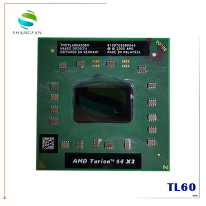 AMD cpu laptop Turion TL-60 TMDTL60HAX5DM CPU 1M Cache/2.0GHz/Socket S1/Dual-Core Laptop processor tl60 TL 60