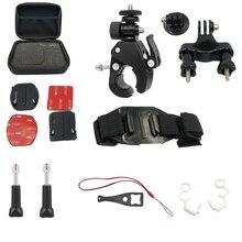 Go pro 액세서리 헬멧 마운트 세트 GoproHero8/7/6/5/4/Max Yi 4K SJ8Pro Sj9 DJI OSMO Action H8 H9R 용 자전거 자전거 클램프 마운트